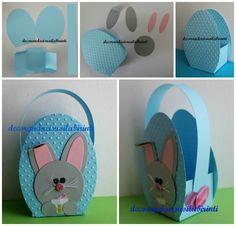 nyuszis kosárka papírból Easter, Kids Rugs, Tutorial, Home Decor, Feltro, Spring, Decoration Home, Kid Friendly Rugs, Room Decor