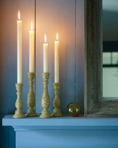 Glittered Candlesticks