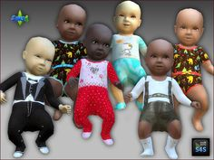Sims 4 CC's - The Best: Replacement Baby Skin and Clothing by Arte Della V...