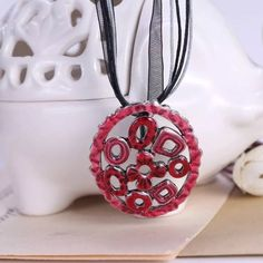 Check out this new product: Abstract Red Oval...  Buy it here now: http://www.synonyco.com/products/abstract-red-oval-necklace?utm_campaign=social_autopilot&utm_source=pin&utm_medium=pin