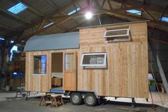 Une maison en bois type Tiny house