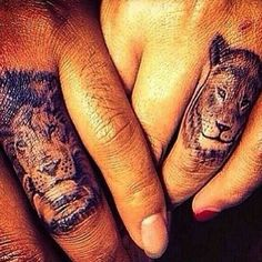 His and hers tattoos. The king and queen.