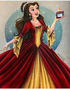 Christmas Belle drawing