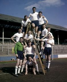 Tottenham Hotspur team pose for a group photograph at White Hart Lane March 1961