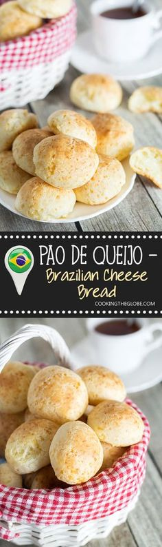 You will love this Pao de Queijo or Brazilian Cheese Bread recipe! The result is crispy outside but soft and chewy inside cheese puffs!