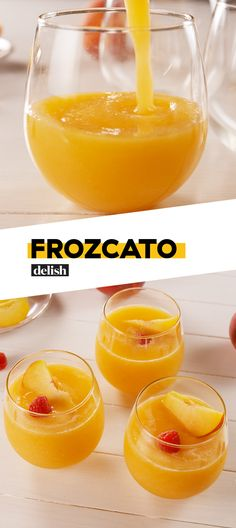 Moscato lovers, this is the summer drink you've been waiting for. Get the recipe at Delish.com. #recipe #easy #easyrecipe #cocktail #wine #moscato #peach #fruit #cocktail #cocktailrecipe