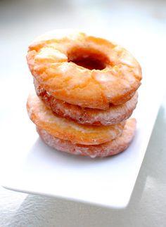 Old-Fashioned Sour Cream Doughnuts with Vanilla Glaze