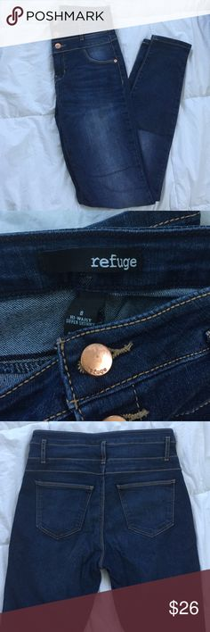 High Waist Skinny Jeans High Waist Super Skinny Jeans. From Charlotte Russe, excellent condition. Not faded at all! Size 8 refuge Jeans Skinny