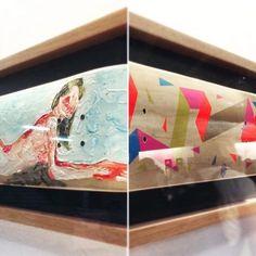 """Hace un año de la exposición 360 grados, donde participé con varios artistas. Mi pieza """"En estado puro"""" (detalle) y """"Absoluto"""" (detalle) de @borisklaatu. Fotografía: @china_malba"""