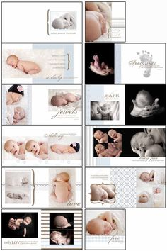 50% OFF SALE Baby Boy Blues Photobook sjabloon door catchcangraphics