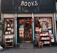 Basara Second Hand Books - Tokyo - Japan I Love Books, Books To Read, Book Cafe, Shop Fronts, Book Aesthetic, Book Nooks, Reading Nooks, Library Books, Book Of Life