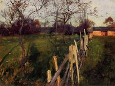 Home Fields, c.1885 by John Singer Sargent | Oil Painting Reproduction | ncArtCo.com