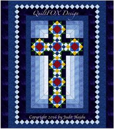 Cross Quilt Cross in Window Queen size by QuiltPatterns on Etsy