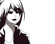 Image discovered by Blue. Find images and videos about black and white, anime and creepypasta on We Heart It - the app to get lost in what you love. Creepypasta Girls, Creepypasta Characters, Alice Liddell, Creepy Pasta Family, Creeped Out, Old Fan, Laughing Jack, Jeff The Killer, Urban Legends