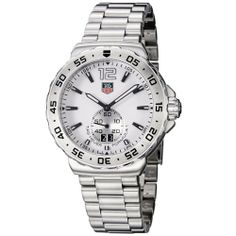 TAG Heuer Men's WAU1113.BA0858 Formula 1 White Dial Stainless Steel Watch TAG Heuer. $995.00. Quartz movement. Water-resistant to 200 M (660 feet). Stainless steel bracelet. Small second subdial. White dial