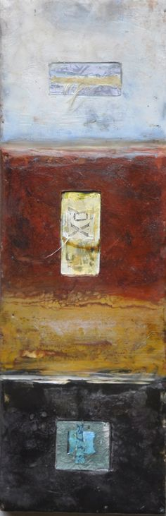 earth windows, encaustic painting by roxanne evans stout