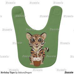 Birthday Tiger Bib #tiger #baby #birthday #cub #party