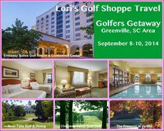 Everyone's invited! Please share to all golfers: Lori's Golf Shoppe Travel is going to Greenville, SC Area for the Golfers Getaway on September 8-10, 2014! Visit http://lorisgolfshoppe.com/c/TRAVEL.html for more details! #golf #lorisgolfshoppe