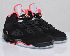 Air Jordan Retro 5 Black Alarming. #Jordans