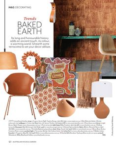 Baked Earth Terracotta trend page for House & Garden Magazine