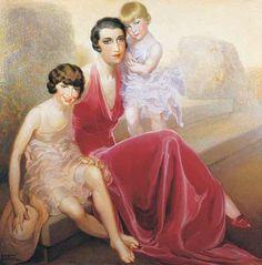 Señora Enrique Moos e hijas (Néstor de la Torre).