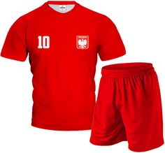 FULL COLOR Komplet Sportowy z Wlasnym Nadrukiem Czerwony Football Kits, Gym Men, England, Sport, Swimwear, Fashion, Football Soccer, Soccer Kits, Soccer Outfits