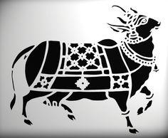 Krishna Painting, Madhubani Painting, Krishna Art, Pichwai Paintings, African Art Paintings, Stencil Designs, Stencil Art, Stenciling, Cow Art