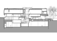Preston Scott Cohen, Inc. - Tel Aviv Museum of Art  Vertical opening in section