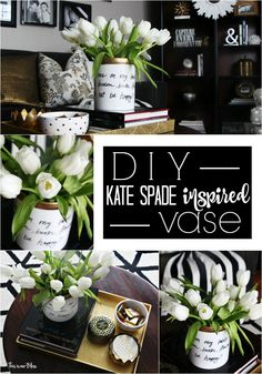 With Floral arranging: DIY Kate Spade inspired vase Knock it off DIY Challenge Kate spade daisy place vase inspired vase This is our Bliss