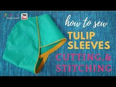 Tulip Sleeves design cutting and stitching ================================= From this video you can learn how to make Petel--Tulip Sleeves Cutting And Stitc. Fancy Blouse Designs, Blouse Neck Designs, Sleeve Designs, T Shirt Tutorial, Sewing Sleeves, Kurti Sleeves Design, Designer Party Wear Dresses, Kids Cuts, Tulip Sleeve