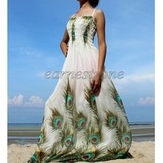 New Prom Hot Long Wedding Peacock Maxi Plus Size Party Evening Dress 2X US 18 20