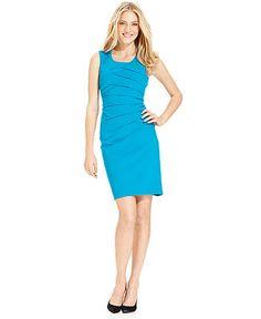 Calvin Klein Dress, Sleeveless Seamed Sheath - Dresses - Women - Macy's