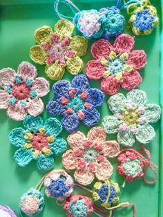 Dotty flower pattern