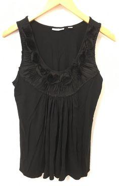 New York and Company Womens Stretch black Sleeveless Tank Top Shirt Size Medium #NewYorkCompany #tank