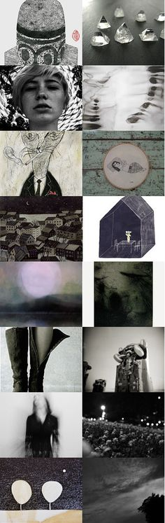 in this quiet atmosphere by jill emery on Etsy. unknown depths don't know till I get there/       in the atmospheric stay till I float away/       seeing things seeding things drift away/       things hinge on change/