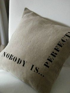 nobody is perfect... love!