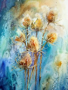 Watercolour Florals Yvonne Harry..chatty blog about how she paints