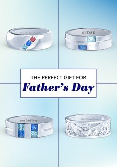 Unique and personalized men's rings are the perfect gift for Dad this year. Design a special ring just for him with your choice of metal, birthstones and meaninful engraving. Order online and save 20% before Father's Day!