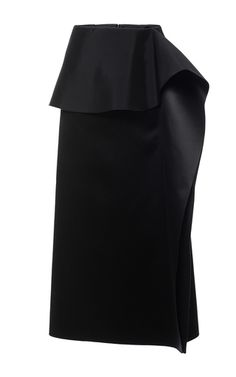 Black Ruffled Skirt by Marni for Preorder on Moda Operandi