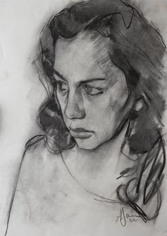 Andrew James - Derly  2002  Charcoal on Paper  18 x 12 / 46 x 31