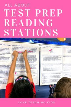 Are you looking for some easy ideas for your test prep reading stations? these ela test prep stations are fun for your upper elementary kids and gives them Reading Test, Third Grade Reading, Reading Intervention, Reading Lessons, Reading Stations, Test Prep, Fun Test, Upper Elementary, Elementary Schools