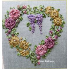 Wonderful Ribbon Embroidery Flowers by Hand Ideas. Enchanting Ribbon Embroidery Flowers by Hand Ideas. Learn Embroidery, Rose Embroidery, Embroidery For Beginners, Embroidery Kits, Embroidery Stitches, Embroidery Supplies, Embroidery Tattoo, Embroidery Techniques, Embroidery Books