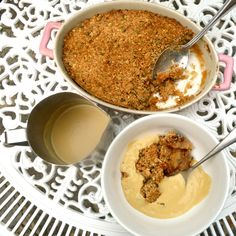 Mrs P's Apple Crumble And Custard