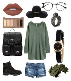 """Gnn"" by karikshelle on Polyvore featuring moda, Timberland, Bobbi Brown Cosmetics, Lime Crime, Urban Decay, Sole Society, Eugenia Kim, Ray-Ban y Marc by Marc Jacobs"