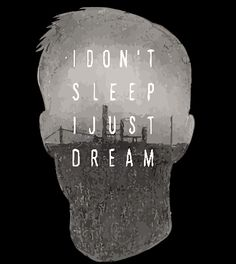 Tee shirt True Detective I don't sleep I don't dream-LOGO