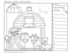 Farm Tracing Preschool Worksheets tracing alphabets for nursery college kids worksheet homework answers double digit addition worksheets grade simplifying radical expressions proportions practice teaching printable free scaled First Grade Phonics, 1st Grade Math Worksheets, Sight Word Worksheets, Kindergarten Worksheets, Cvc Worksheets, Addition Worksheets, Farm Unit, Reading Centers, Literacy Centers