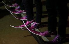 Scarpe strane da uomo - Stivali a punta usati in Matehuala, Messico