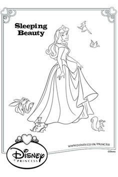 Aurora Dress Colouring Page