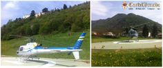 #alternative way to get to #Castelbrando! We have an #heliport!
