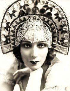 Dolores del Rio, 1928 wearing a kokoshnik